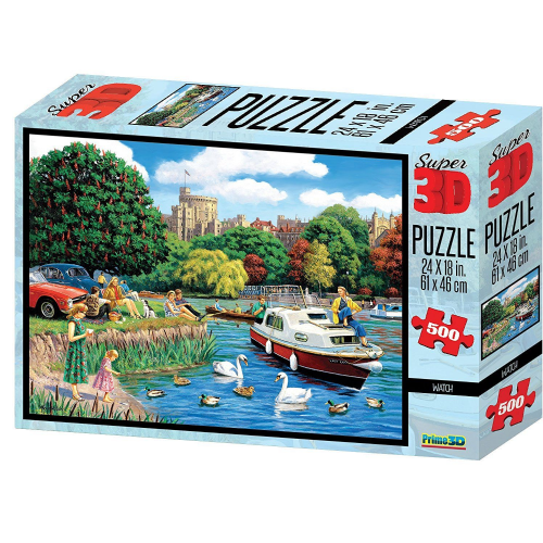 Kevin Walsh KW10034 Windsor Castle 3D Lenticular Puzzle 500 Piece